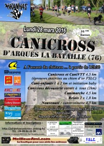 Plaquette Canicross Arques 2016